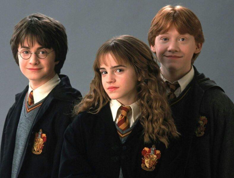 Hình ảnh Hary Potter cùng hai người bạn học