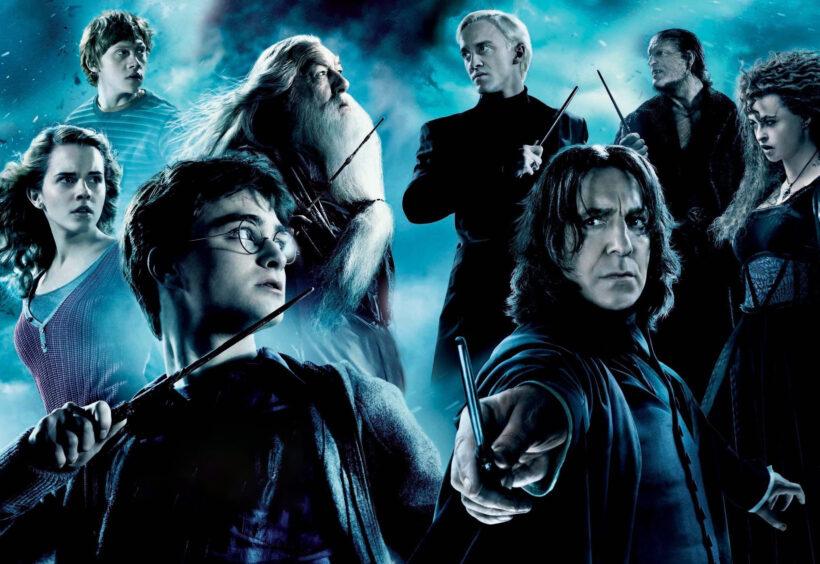 Hình ảnh Hary Potter và các nhân vật khác trong phim