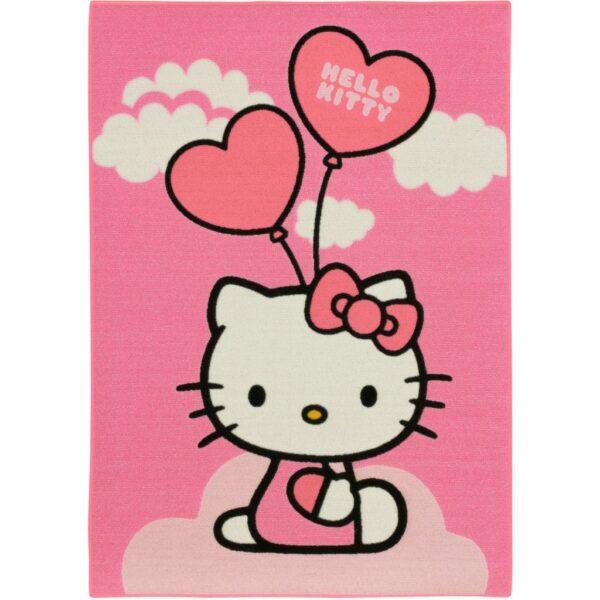 Hình ảnh Hello Kitty cầm chùm bóng bay