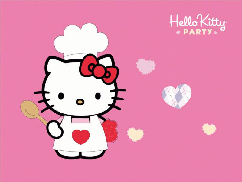 Hình ảnh Hello Kitty làm đầu bếp