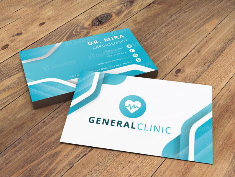 Hình ảnh Mẫu card visit ngành y tế