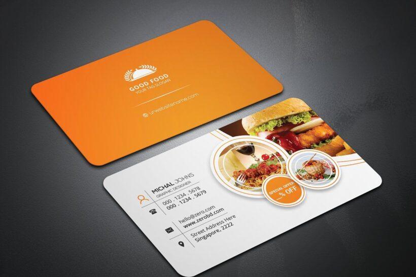 hình ảnh mẫu card visit nhà hàng, quán ăn