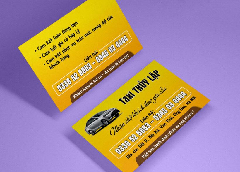 Hình ảnh Mẫu card visit taxi