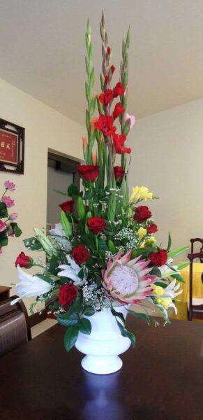 Hình ảnh mẫu hoa để bàn ngày tết tuyệt đẹp
