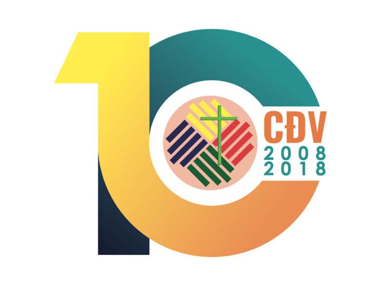 Hình ảnh mẫu logo kỉ niệm 10 năm đẹp