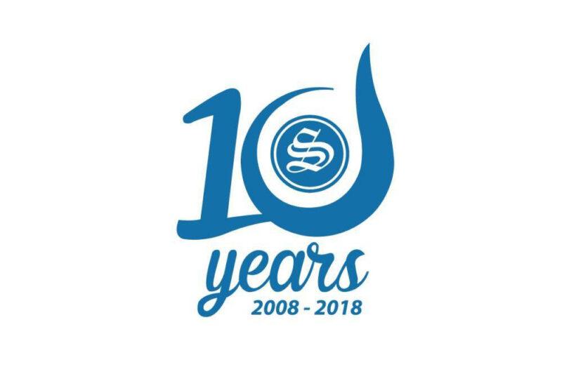 Hình ảnh mẫu logo kỉ niệm 10 năm đẹp nhất