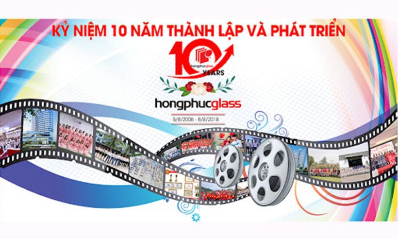 Hình ảnh mẫu logo kỉ niệm 10 năm Hồng Phúc