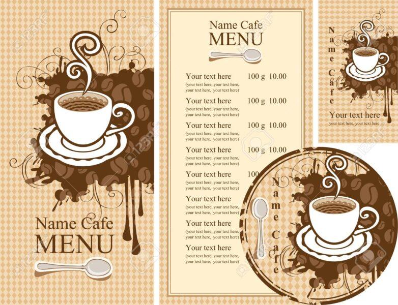 Hình ảnh mẫu menu cafe đẹp