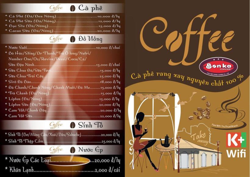 Hình ảnh mẫu menu cafe đẹp nhất