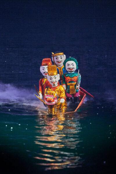 hình ảnh múa rối nước chỉ có tại Việt Nam