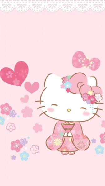 Hình ảnh nền Hello Kitty dễ thương cho điện thoại