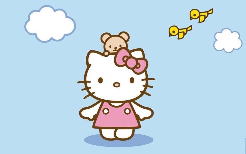Hình ảnh nền Hello Kitty dễ thương cho máy tính