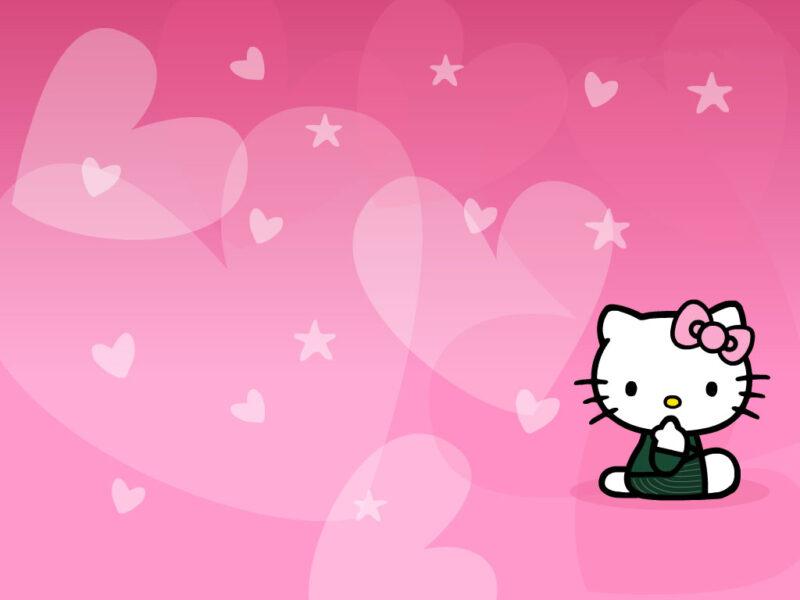 Hình ảnh nền Hello Kitty siêu đáng yêu
