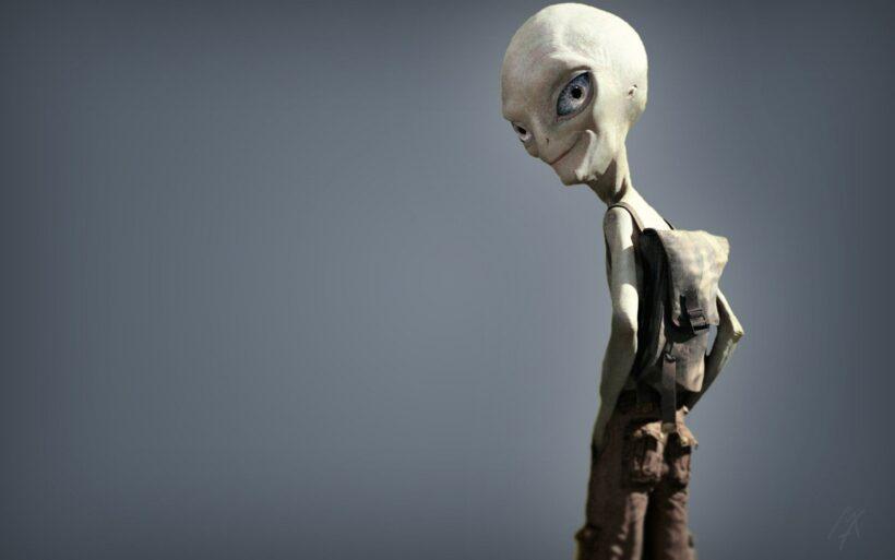 Hình ảnh người ngoài hành tinh đeo ba lô