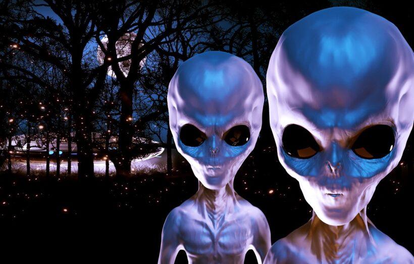 Hình ảnh người ngoài hành tinh trong đêm