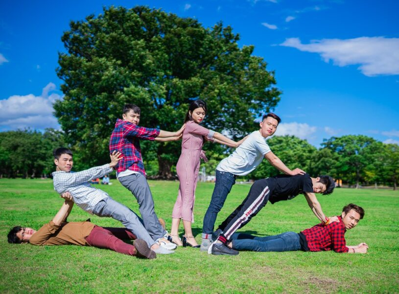 Hình ảnh nhóm bạn thân lầy