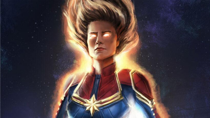 Hình ảnh siêu anh hùng Captain Marvel