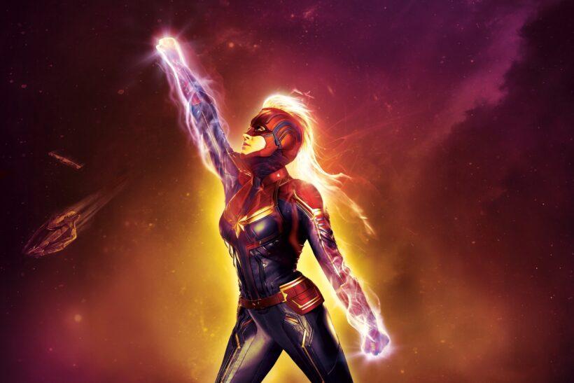 Hình ảnh siêu anh hùng Captain Marvel đẹp