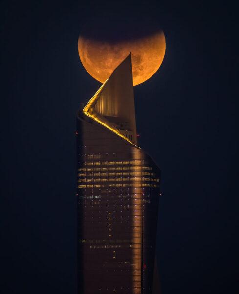 hình ảnh siêu trăng hiếm thấy nhất
