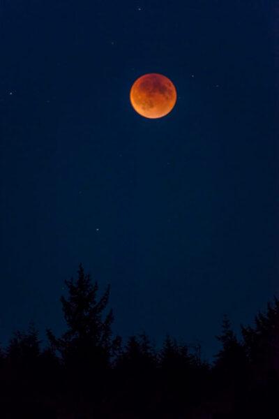 hình ảnh siêu trăng - mặt trăng màu đỏ