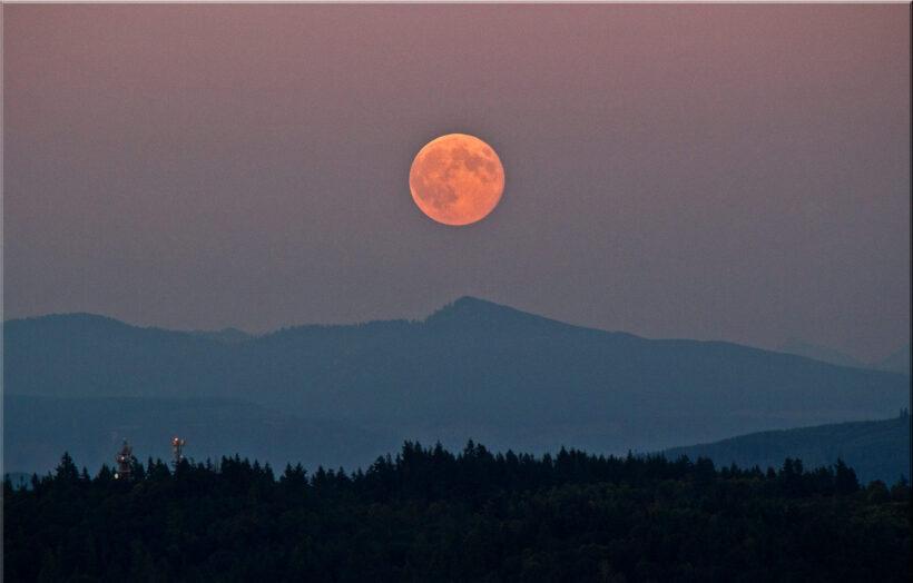 hình ảnh siêu trăng thực tế