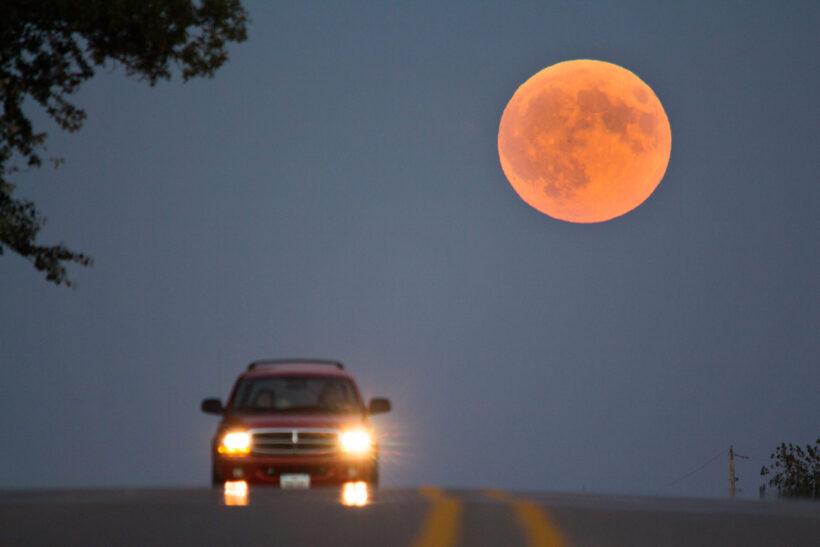 hình ảnh siêu trăng to lớn