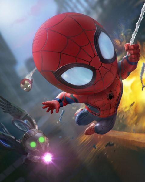Hình ảnh Spider Man người nhện chibi