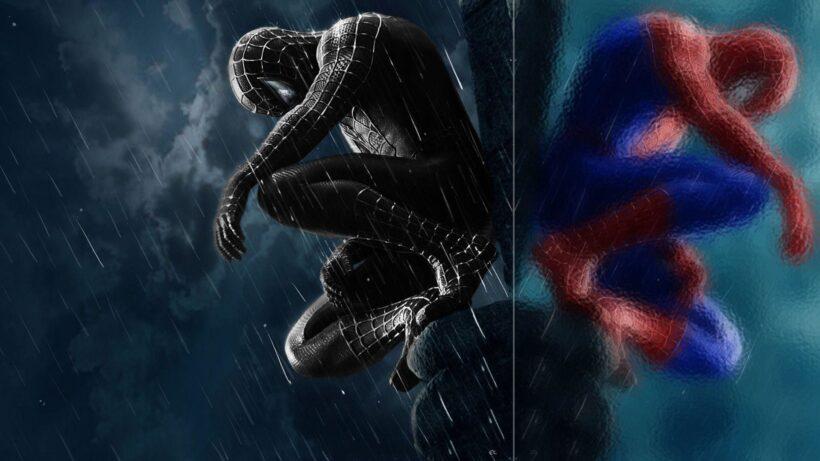 Hình ảnh Spider Man người nhện đen và đỏ