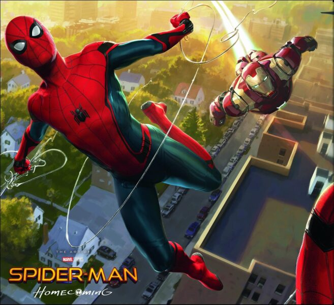Hình ảnh Spider Man người nhện và người sắt