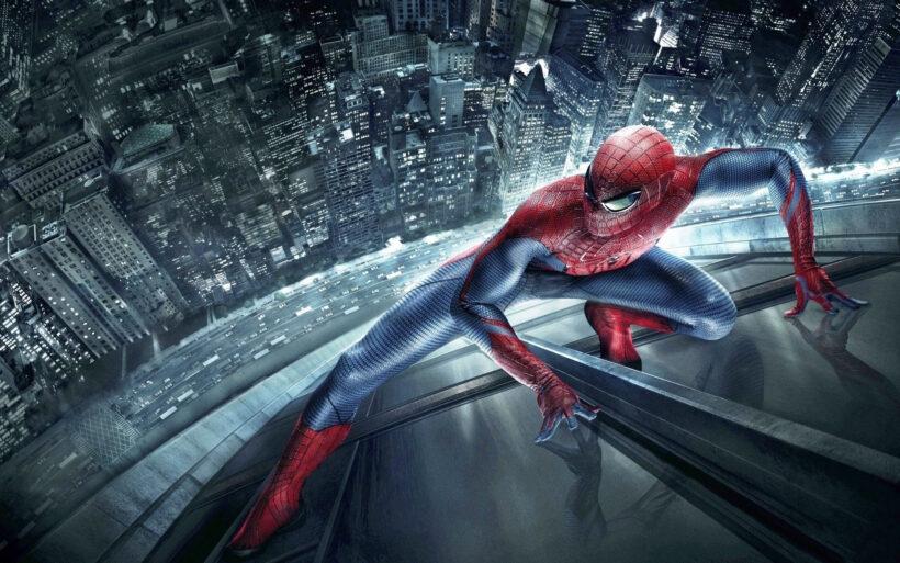 Hình ảnh Spider Man người nhện với pha leo tường cực đẹp
