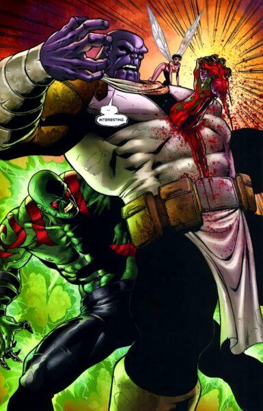 Hình ảnh Thanos bị móc quả tim
