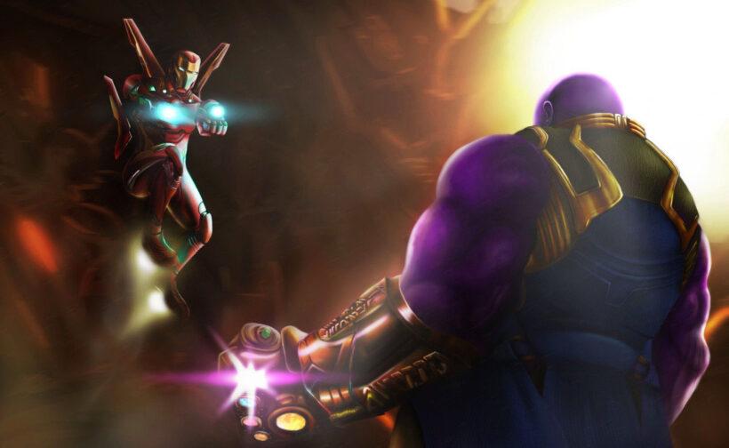 Hình ảnh Thanos chiến đấu với Iron Man