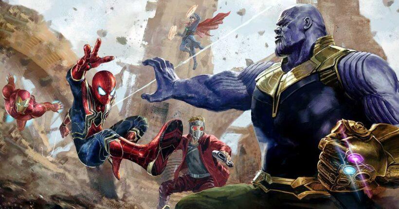 Hình ảnh Thanos đánh nhau với các siêu anh hùng