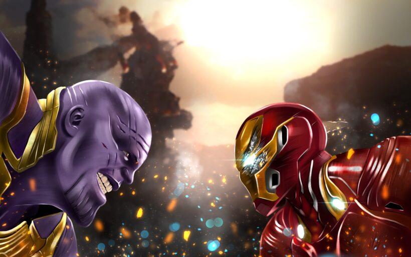 Hình ảnh Thanos và iron man
