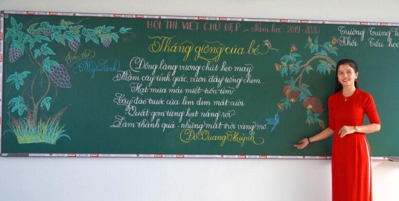 Hình ảnh thầy cô giáo với những nét chữ đẹp tuyệt