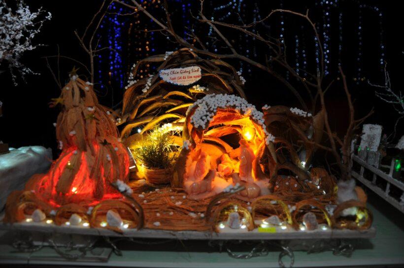 Hình ảnh trang trí hang đá Giáng Sinh