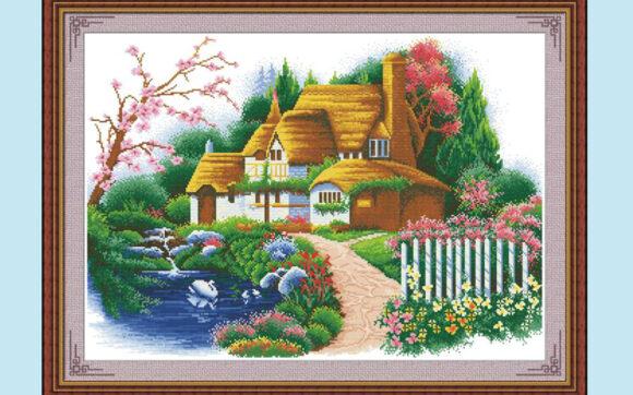 Hình ảnh tranh thêu chữ thập đẹp nhất
