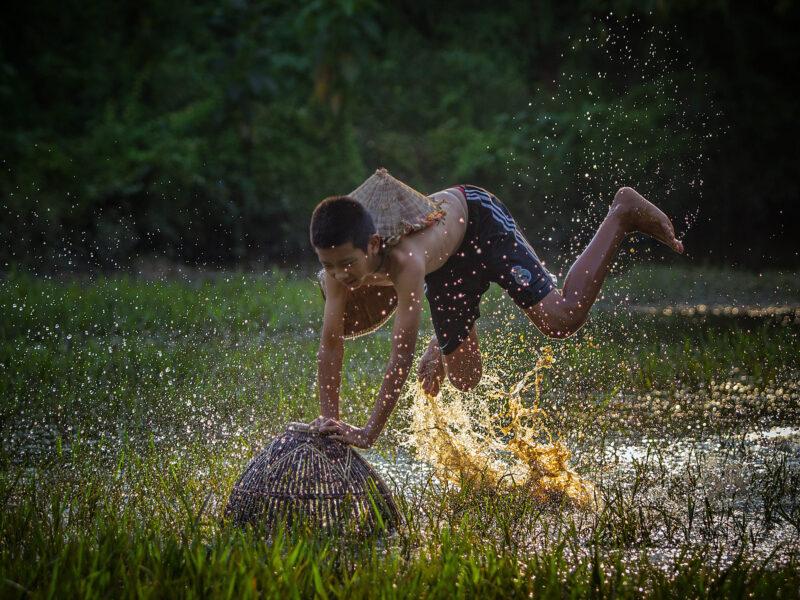 hình ảnh trẻ em miền quê