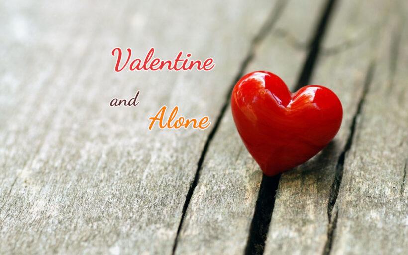 Hình ảnh Valentine buồn, cô đơn