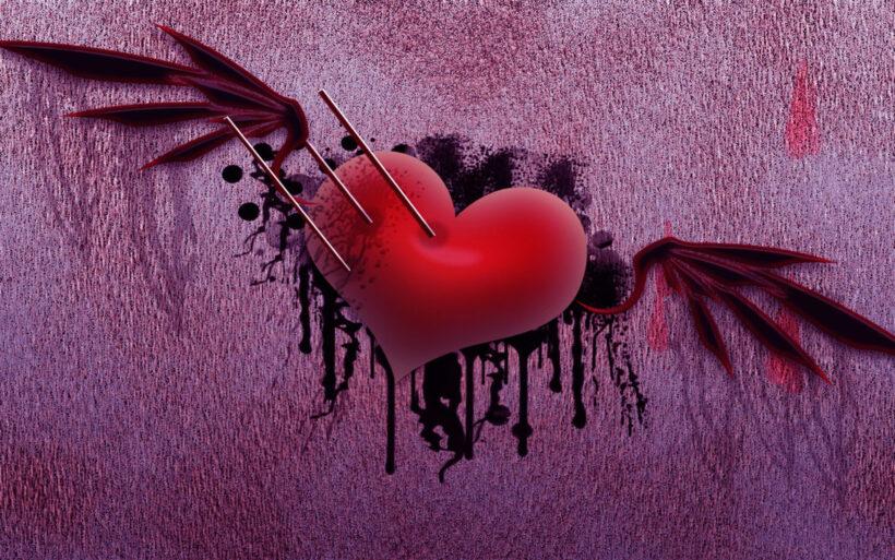 Hình ảnh Valentine buồn, trái tim tổn thương