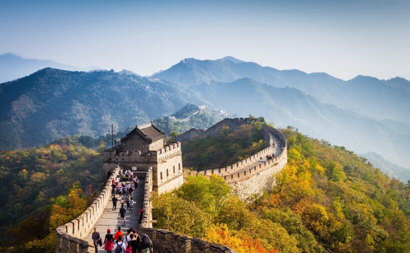 Hình ảnh Vạn Lý Trường Thành và những khách du lịch
