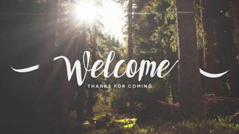Hình ảnh Welcome đẹp mở đầu