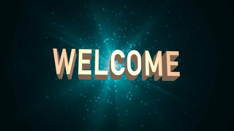 Hình ảnh Welcome mở đầu ấn tượng