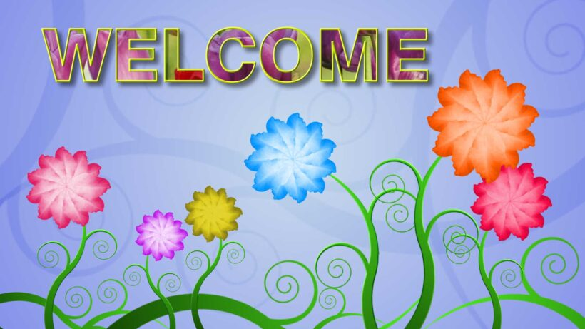 Hình ảnh Welcome mở đầu đẹp, dễ thương