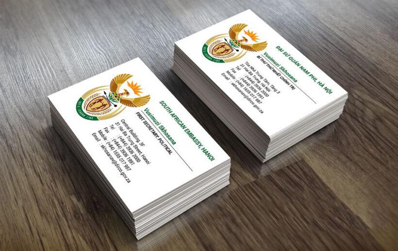 Hình mẫu card visit cơ quan Đại Sứ Quán