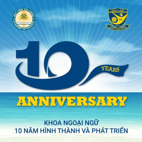 Hình mẫu logo kỉ niệm 10 năm đẹp