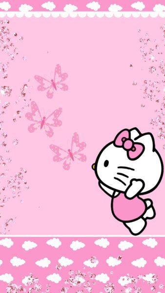 Hình nền Hello Kitty dễ thương cho điện thoại