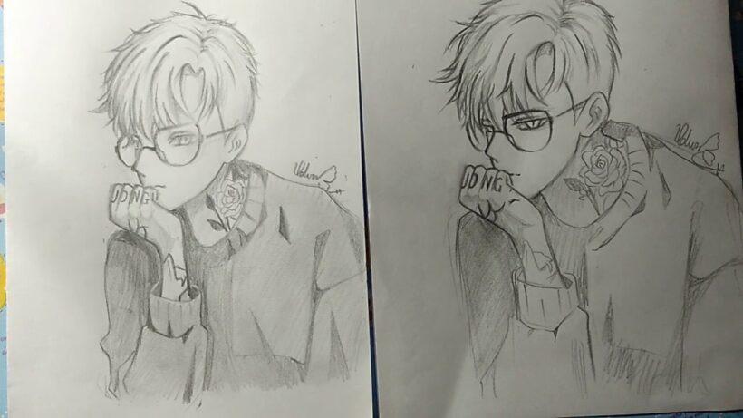 Hình vẽ anime boy