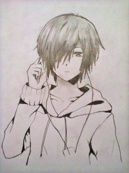 Cool Anime Drawings In Pencil Boy Anime Boy Drawings In Pencil C