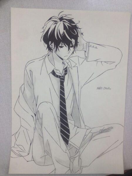 Hình vẽ anime boy lạnh lùng